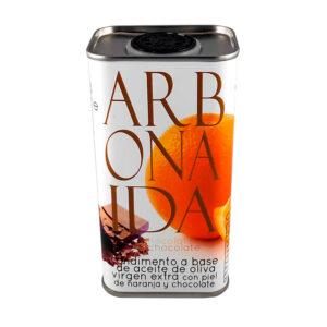AOVE aromatizado con esencias naturales de piel de naranja y chocolate