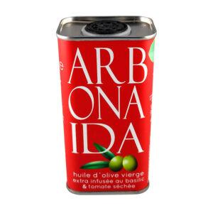 AOVE aromatizado con esencias naturales de albahaca y tomate seco