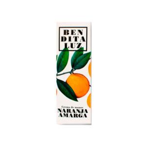 Crema de manos de aceite esencial de naranja amarga