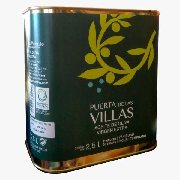 caja 4 latas de 2,5 litros virgen extra temprano